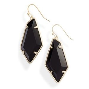 NWT Kendra Scott Emmie Drop Earrings Gold/Black